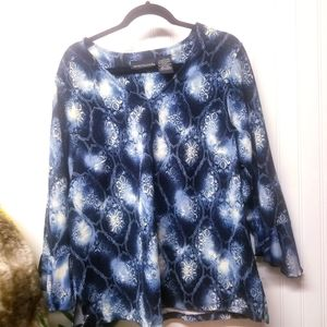 Impressions Bell Sleeve Blouse Size 1X